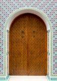 Крупный план морокканской двери Стоковая Фотография