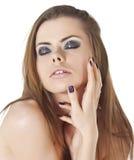 Крупный план молодой женщины с красивыми волосами. Стоковое Изображение