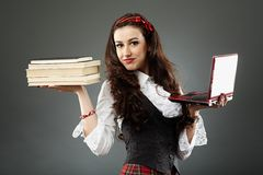 Крупный план молодой школьницы Стоковая Фотография RF