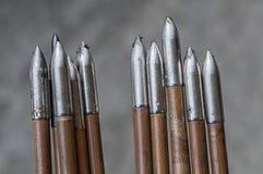 Крупный план наконечников стрелы Стоковые Фотографии RF