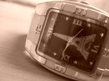 Крупный план наручных часов Стоковое фото RF