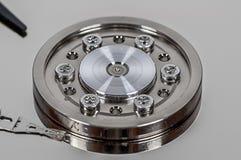 Крупный план на жёстком диске Стоковые Изображения