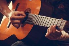 Крупный план на музыкальном инструменте Стоковая Фотография RF
