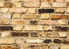Крупный план на старой городской кирпичной стене с различными плитками Стоковая Фотография RF
