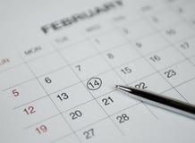 Крупный план номеров на странице календаря Стоковая Фотография RF