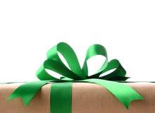 Крупный план обернутого подарка на рождество Стоковое Изображение