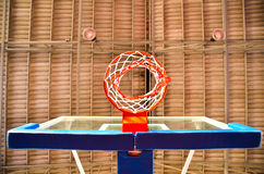 Крупный план обруча баскетбола Стоковые Фото