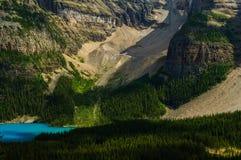 Крупный план озера морен бирюзы горы Rockie Стоковое Изображение