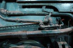 Крупный план локомотива механизма стоковая фотография