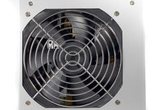 Крупный план охлаждающего вентилятора компьютера на белизне Стоковые Изображения RF