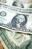 Крупный план долларовой банкноты США одного usd банкноты вашингтон портрета george соединенные положения дег Стоковое Фото