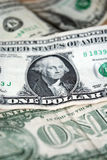 Крупный план долларовой банкноты США одного usd банкноты вашингтон портрета george соединенные положения дег Стоковая Фотография