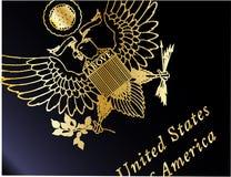 Крупный план пасспорта США иллюстрация вектора