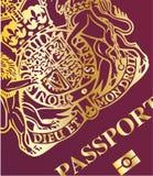 Крупный план пасспорта бесплатная иллюстрация