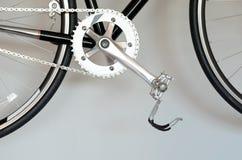 Крупный план педали велосипеда Стоковое фото RF