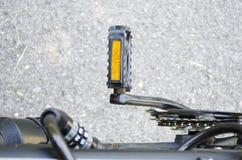 Крупный план педали велосипеда Стоковое Изображение