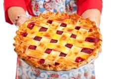 Крупный план пирога вишни Стоковые Фотографии RF
