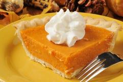 Крупный план пирога сладкого картофеля Стоковая Фотография