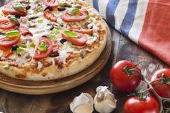 Крупный план пиццы стоковые фото