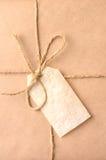 Крупный план подарка на рождество стоковые фото
