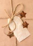 Крупный план подарка рождества Стоковые Фотографии RF