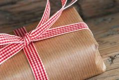 Крупный план подарка Стоковая Фотография