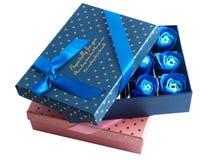 Крупный план подарочной коробки Стоковые Изображения