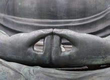 Крупный план положения руки Amithabha Будды Стоковое Изображение RF