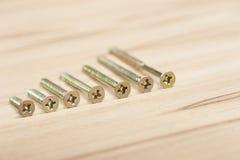 крупный план предпосылки немногие винты металла оборудует белую работу Стоковые Фотографии RF