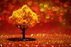 крупный план предпосылки осени красит красный цвет листьев плюща померанцовый Стоковая Фотография RF
