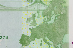 Крупный план 100 примечаний евро Стоковые Изображения RF