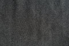 Крупный план простой серой шерстяной ткани Стоковая Фотография