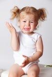 Крупный план плача маленького ребенка Стоковая Фотография