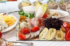 Крупный план плиты закуски Стоковые Изображения RF