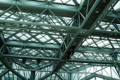 Крупный план рамок стальной структуры стоковое изображение