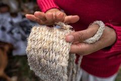 Крупный план руки женщины Стоковые Изображения RF