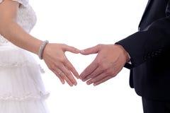 Крупный план 2 рук рук сердца Стоковая Фотография