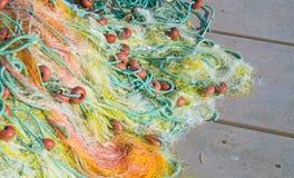 крупный план рыболовных сетей Предпосылка рыболовных сетей Стоковые Изображения RF