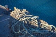 крупный план рыболовных сетей Стоковые Изображения