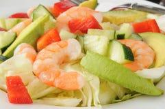 Салат шримса и авокадоа стоковое фото rf