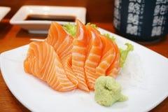 Крупный план свежего salmon сасими Стоковое фото RF