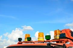 Крупный план светов пожарной машины верхних Стоковые Изображения