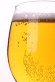Крупный план светлого пива Стоковые Изображения