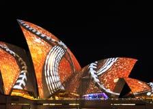 Крупный план светлых проекций на оперном театре Стоковые Изображения RF