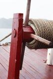 Крупный план снаряжения лодки стоковая фотография