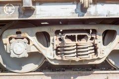 Крупный план старого экипажа Wheen поезда Стоковая Фотография RF