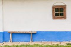 Крупный план старых деревянных окна и места Стоковые Изображения RF