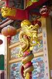 Крупный план статуи дракона китайского стиля Стоковая Фотография RF
