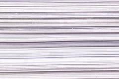 Крупный план стога белой бумаги Стоковые Фото
