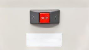 Крупный план стопа красной кнопки Стоковая Фотография